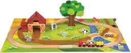 Bino Drewniana kolejka w wiaderku zestaw Farma Country