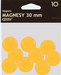 Grand Magnes 30mm żółty 10 sztuk