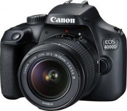 Lustrzanka Canon EOS 4000D + obiektyw EF-S 18-55 DC III (3011C003)