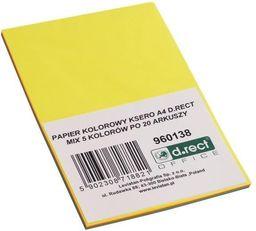 D.Rect Papier ksero A4 mix kolorów 100 arkuszy