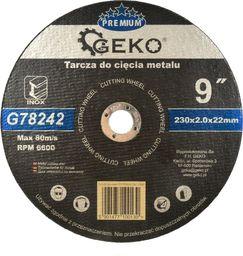GEKO Tarcza do cięcia metalu GEKO PREMIUM 230x2 Inox (5/25/100)