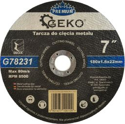 GEKO Tarcza do cięcia metalu PREMIUM 180x1.6 Inox (G78231)