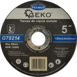 GEKO Tarcza do cięcia metalu GEKO PREMIUM 125x2 Inox (10/50/200)