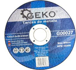 GEKO Tarcza do metalu 125x1.0 10/50/400 (G00027)