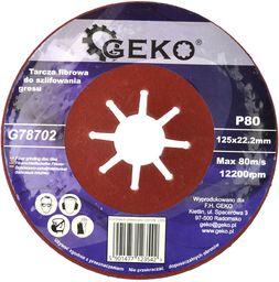 Geko tarcza fibrowa do szlifowania gresu 125mm P80 10/200 (G78702)