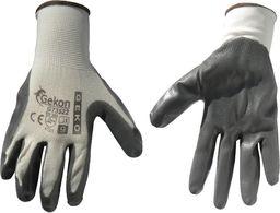 Geko Rękawice ochronne Gekon rozmiar 9 biało-szare (G73522)