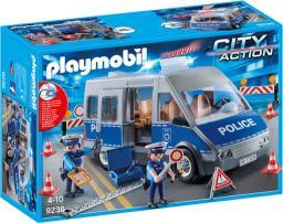 Playmobil Samochód policyjny z blokadą drogową 9236