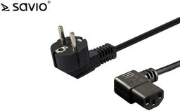 Kabel zasilający Savio Kabel zasilający Savio CL-115 IEC C13 kątowy - C/F Schuko kątowy 1,2 M