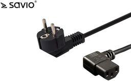 Kabel zasilający Savio Kabel zasilający Savio CL-116 IEC C13 kątowy - C/F Schuko kątowy 1,8 M