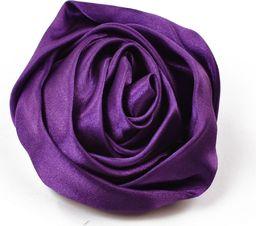 Art of Polo Broszka satynowa różyczka fioletowa