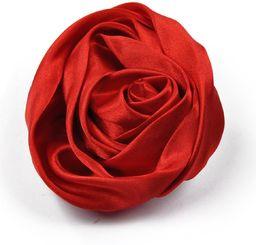 Art of Polo Broszka satynowa różyczka czerwona