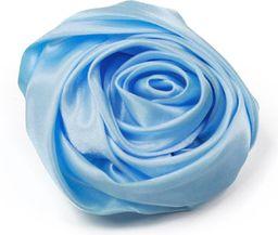 Art of Polo Broszka satynowa różyczka niebieska