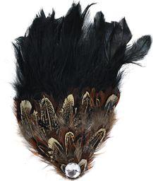Art of Polo Broszka piórkowa ozdoba czarna