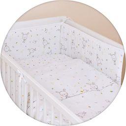 Ceba Pościel niemowlęca drukowana 3 - elementowa Dream biały rozproszony Lux