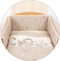 Ceba Pościel niemowlęca drukowana 3 - elementowa Kaczuszki brąz