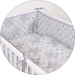 Ceba Pościel niemowlęca drukowana 3 - elementowa Gwiazdki szare