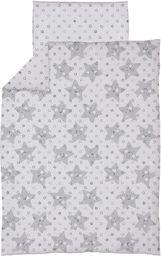 Ceba Pościel niemowlęca drukowana 2 - elementowa Gwiazdki szare
