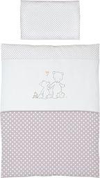 Ceba Pościel niemowlęca haftowana 2 - elementowa Papa Bear szary