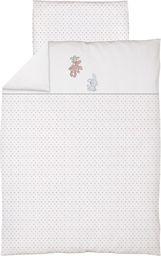Ceba Pościel niemowlęca haftowana 2 - elementowa Zajączki białe