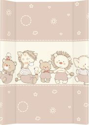 Ceba Ceba Baby, Przewijak miękki profilowany Kaczuszki brązowe, 50 x 70 cm
