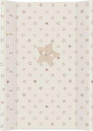 Ceba Ceba Baby, Przewijak miękki profilowany Gwiazdki beżowe, 50 x 70 cm