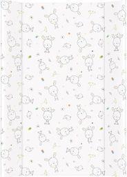 Ceba Ceba Baby, Przewijak miękki profilowany Dream biały rozproszony, 50 x 70 cm