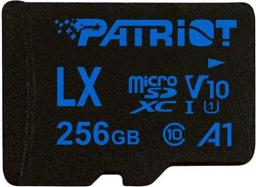Karta Patriot MicroSDXC LX Series 256GB V10, A1, U1 up to 90MB/s (PSF256GLX11MCX)