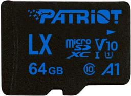 Karta Patriot MicroSDXC LX Series 64GB V10, A1, U1 up to 90MB/s (PSF128GLX11MCX)