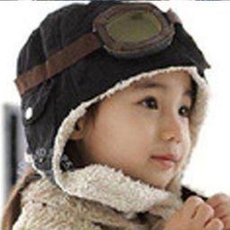 GiftWorld Czapka pilotka dla dzieci - czarna