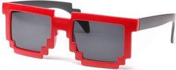 GiftWorld Pikselowe okulary 8 bit pixel - czerwone