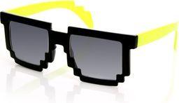 GiftWorld Pikselowe okulary 8 bit pixel - żółte
