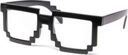 GiftWorld Pikselowe okulary 8 bit pixel - przeźroczyste