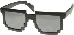 GiftWorld Pikselowe okulary 8 bit pixel - czarne