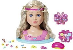 Zapf BABY born Lalka Siostrzyczka Głowa do stylizacji Różowa 824788