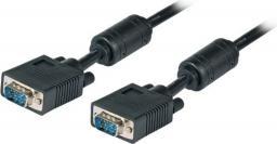 Kabel EFB D-Sub (VGA) - D-Sub (VGA), 1.8, Czarny (K5326SW.1,8)