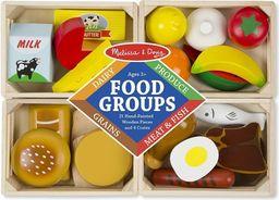 Melissa & Doug Drewniane jedzenie 4 rodzaje w skrzynkach