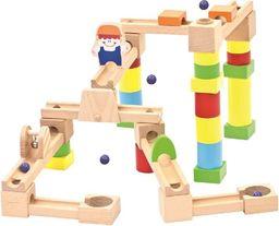 Bino Drewniany kulodrom 40 elementów
