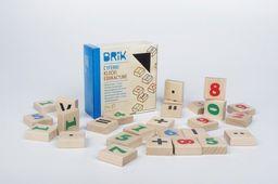 Brik Klocki drewniane cyferki - 27 sztuk (54 cyferki), nauka i zabawa w jednym