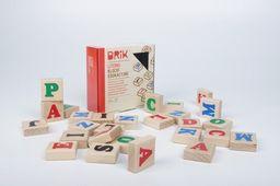 Brik Klocki drewniane dla dzieci literki - 27 sztuk (54 literki)