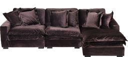 Miloo Home Sofa narożna Cobra z otomaną prawą 313x270x75cm