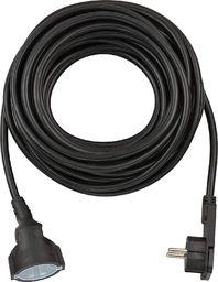 Brennenstuhl krótki przedłużacz kablowy z wtyczką kątową 10m czarny (1168980010)