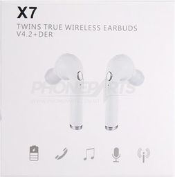 Słuchawki GSM City SŁUCHAWKI BEZPRZEWODOWE X7  WHITE