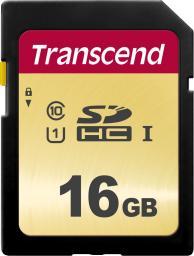 Karta pamięci Transcend SDHC 500S 16GB CL10 UHS-I U1 (TS16GSDC500S)