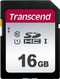 Karta pamięci Transcend SDHC 300S 16GB CL10 UHS-I U1 (TS16GSDC300S)