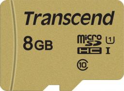 Karta Transcend 500S MicroSDHC 8 GB Class 10 UHS-I/U1 V30 (TS8GUSD500S)