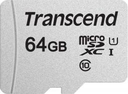 Karta Transcend 300S MicroSDXC 64 GB Class 10 UHS-I/U1  (TS64GUSD300S)