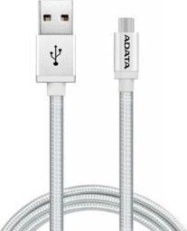Kabel USB ADATA USB-mUSB 200cm srebrny alu-knit (AMUCAL-200CMK-CSV)
