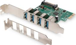 Kontroler Digitus PCIe 2.0 x1 - 4x USB 3.0 (DS-30221-1)