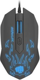 Mysz Natec Fury optyczna dla graczy BRAWLER 1600 DPI podswietlenie