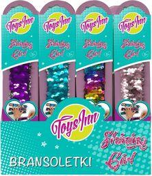 Stnux Bransoletki cekinowe mix kolorów